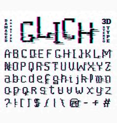 pixel glitch font noise 8-bit symbols digital vector image