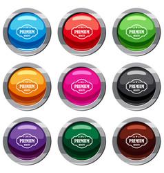 Premium quality label set 9 collection vector