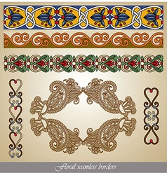 seamless stripe pattern set vector image