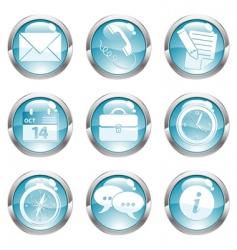 set business gloss button vector image
