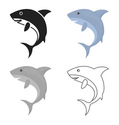 shark icon cartoon singe animal icon from the big vector image