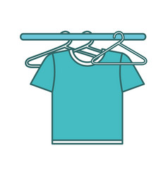 Shirts hanging in the laundry vector