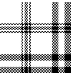simple black white check plaid seamless pattern vector image