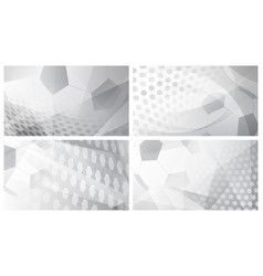 Soccer backgrounds in gray colors vector