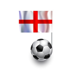 Soccer Balls or Footballs with flag of England vector