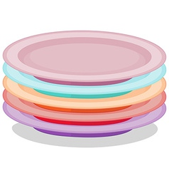 Stack of plates vector