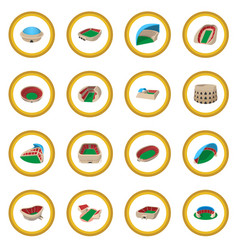 stadium cartoon icon circle vector image