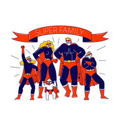 Super family concept characters mother father vector