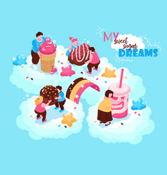 sweets heaven dreams background vector image
