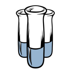 Test tube icon cartoon vector
