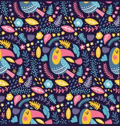 Toucan dark pattern vector