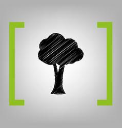 tree sign black scribble vector image