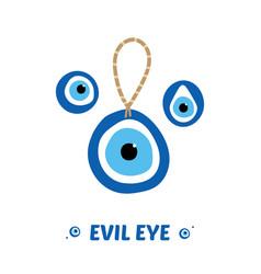Turkish blue eye-shaped amulets evil eyes vector
