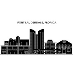 Usa fort lauderdale florida architecture vector