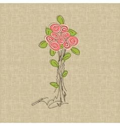Vintage rose doodle flower vector