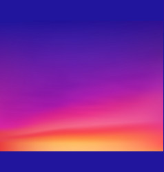 violet sunset sky colorful gradient vector image