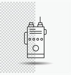 walkie talkie communication radio camping line vector image