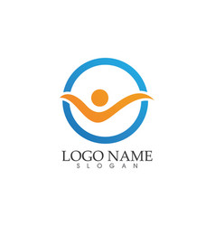 Waves beach logo and symbols template icons app vector