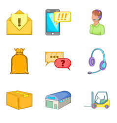 Wholesale icons set cartoon style vector