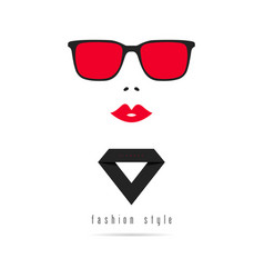 Woman fashion style with diamond in colorful vector