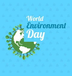 Word environment day poster earth vector