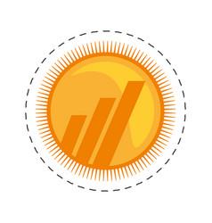 Worldcoin money golden commerce vector