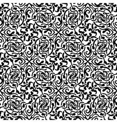 Black floral seamless wallpaper pattern vector image