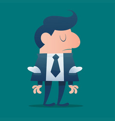 businessman would be bankrupt cartoon vector image vector image