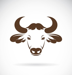 images of bison head vector image
