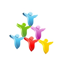People pyramid concept icon vector image vector image