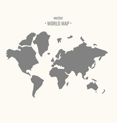Grey silhouette of world map royalty free vector image world map in trendy flat vector image gumiabroncs Choice Image