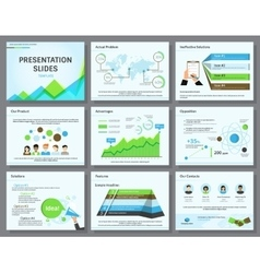 Business infographics presentation slides template vector image vector image