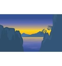 cliff in sea vector image