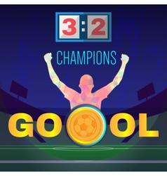 Digital football and soccer champions vector image