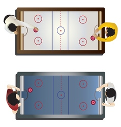 Game room Hockey table top view vector image vector image
