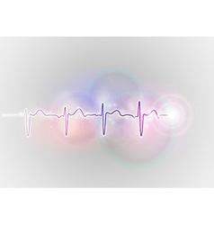 medical symbol ekg blue vector image