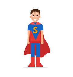 son superheroes super boy character vector image
