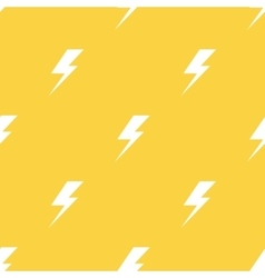White lightnings yellow seamless pattern vector image