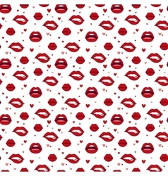 Woman lips seamless pattern vector image vector image