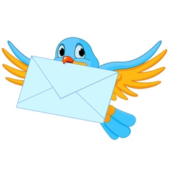 Bird with letter vector image vector image