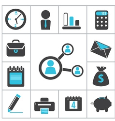 Buisness icons vector image vector image