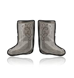 Felt boots sketch for your design vector
