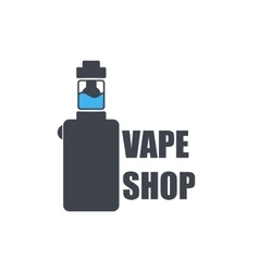 Logo or icon of an electronic cigarette vector image
