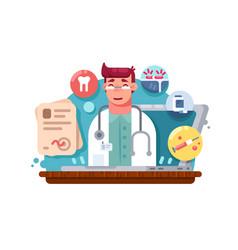 service online doctor vector image vector image