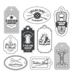 Set of tailor emblem signage vector