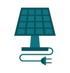 Solar panel energy ecological clean vector