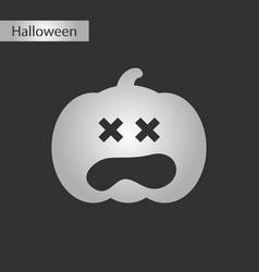 black and white style icon halloween pumpkin vector image vector image