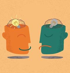 Brain Idea Bulb vector image