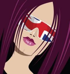 British babe vector image