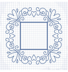 cute frame with heart vector image